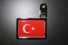 Autoplakette Türkei Fahne für Kennzeichenhalterung Phone, Autos, Telephone, Mobile Phones
