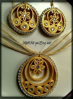 Jewelry set - Quilled by: Sagarika Quilling Art