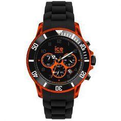 montre Homme Ice Watch, Chrono Electrik Black and Orange Big CH.KOE.BB.S.12