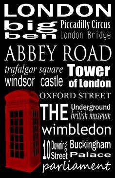 Free Printable - London Subway Art