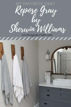 Agreeable Gray Paint ColorSW Repose Gray by Sherwin Williams - West Magnolia Charm Quality Online Ro Indoor Paint Colors, Light Grey Paint Colors, Best Gray Paint Color, Bathroom Paint Colors, Neutral Paint, Paint Colours, Repose Gray Paint, Sw Repose Gray, Agreeable Gray