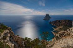 Hiszpania, Ibiza, Morze Balearskie, Wybrzeże, Wzgórza