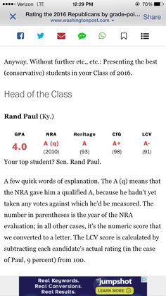 Top republican candidate, Rand Paul.