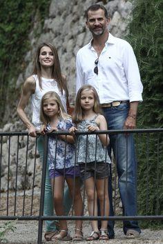 Princess Letizia - Spanish Royals Take a Walk in Mallorca