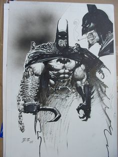 Bisley Batman/Lobo Comic Art
