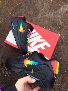 really like this nike air max 90 candy drip rainbow, distinctive personality!i really like this nike air max 90 candy drip rainbow, distinctive personality! Jordan Shoes Girls, Girls Shoes, Shoes Women, Nike Air Shoes, Sneakers Nike, Nike Heels, Vans Shoes, Shoes Sandals, Souliers Nike