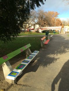Nice benches in buda
