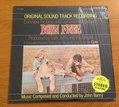 Movie Soundtrack Born Free LP Original Recording 1969 John Barry Sam Jaffe Radin #FilmScoreSoundtrack