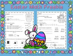 Grade Math Easter Worksheets have some pictures that related one another. Find out the most recent pictures of Grade Math Easter Worksheets here, and 2nd Grade Classroom, 2nd Grade Math, Second Grade, Classroom Door, Classroom Ideas, Math Subtraction Worksheets, 1st Grade Math Worksheets, Grammar Worksheets, Easter Worksheets