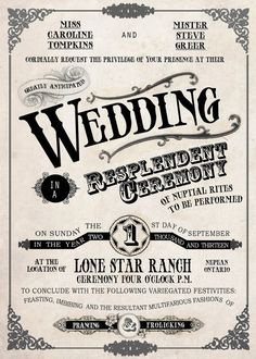 Country Vintage Wedding Invitation Set Old Fashioned by Idowithyou, $2.25