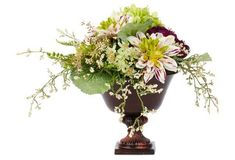 "14"" Dahlia and Ranunculus Arrangement 