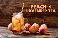 Lavender Peach Iced Tea (Herbal and Caffeine-Free) This lavender flower and peach iced tea is refreshing, easy to make, and uses actual peaches! Sweeten with a touch of honey for the perfect summer drink. Summer Drink Recipes, Iced Tea Recipes, Summer Snacks, Making Iced Tea, Peach Ice Tea, Wellness Mama, Refreshing Summer Drinks, Lavender Tea, Chamomile Tea