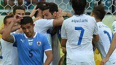 Uruguay 2-2 Italy (Italy win 3-2 on pens)
