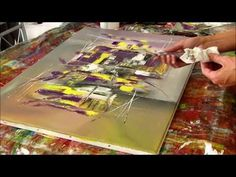 Abstract painting demo - Démonstration peinture abstraite (7) - Althea - YouTube