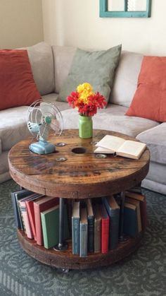 cable spool tables Insanely Cute Coffee Tables Decor from 38 of the Brilliant Coffee Tables Decor collection is the most trending home decor this winter. This Coffee Tables Decor loo Wooden Spool Tables, Cable Spool Tables, Spools For Tables, Wooden Cable Spools, Diy Coffee Table, Decorating Coffee Tables, Coffee Coffee, Unique Coffee Table, Diy Pallet Projects