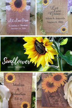 Sunflower Favors Sunflower Wedding Favors Rustic Wedding SFW Sunflower Wedding Fall Wedding Favors Sunflower Favor Boxes