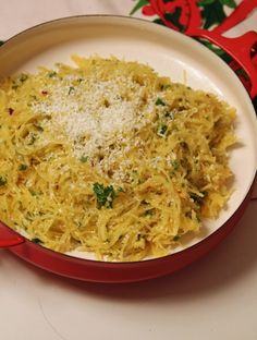 Undercover Caterer :: Spaghetti Squash with Garlic and Mizithra Cheese