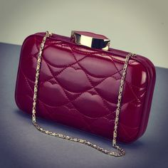 aa8ec6b6afe Lulu Guinness Patent Leather Quilted Lips Fifi Clutch Bag