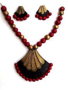 #Terracotta #NecklessSet #jewellery craftshopsindia