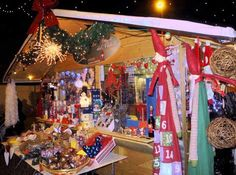 Una bancarella dei Mercatini di Natale in Trentino