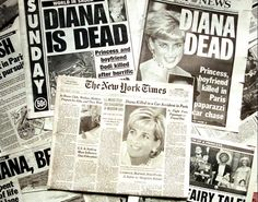 DIANA, PRINCESS OF WALES - Sunday editions of New York City's major newspapers break the news of the fatal car crash that killed Diana, Dodi Fayed and their chauffeur Henri Paul. The accident happened shortly after midnight in a tunnel along the River Seine in Paris; August 31, 1997.