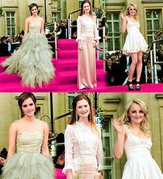 girl cast of harry potter at premiere