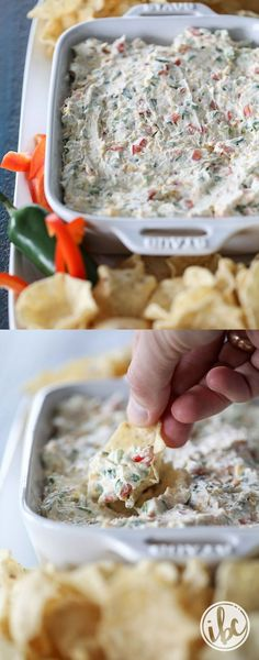 Delicious and easy - this Jalapeño Dip is a great appetizer for any celebrations! #appetizer #dip #jalapeño #recipe