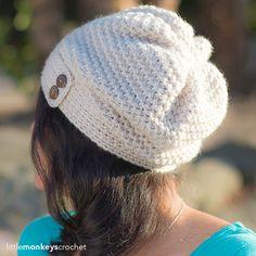New crochet beanie pattern free slouchy infinity scarfs ideas Crochet Adult Hat, Crochet Slouchy Hat, Crochet Hat For Women, Crochet Beanie Pattern, Knitted Hats, Knit Crochet, Crochet Patterns, Crochet Hats, Hat Patterns