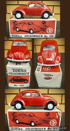 Tonka Toys, Box Art, Diorama, Volkswagen, Restoration, Lunch Box, Colour, Cars, The Originals