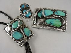 """Juan Calavaza was the nephew of Dan Simplicio and the husband of Effie Calavaza who he taught to work silver and turquoise.  Together they created a jewelry empire featuring a snake surrounding  turquoise """"eggs""""."""