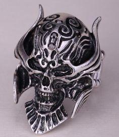 Skull ring stretch women biker jewelry halloween gift for women girls kids  Skull Wedding Ring c448d70886