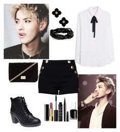 """""""Kris~"""" by kpop200 on Polyvore featuring KRISVANASSCHE, Boutique Moschino, MANGO, Wet Seal, Forever 21, Tory Burch, Essie, Marc Jacobs, NARS Cosmetics and Chanel"""