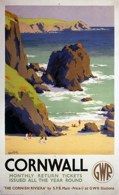 Cornwall - The Cornish Riviera Art Print by National Railway Museum Easyart.com