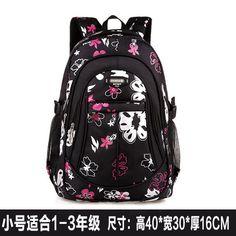 5450b972691 New Floral Printing Children School Bags Backpacks For Girls Boys Teenagers  Cute Trendy Schoolbag Kids