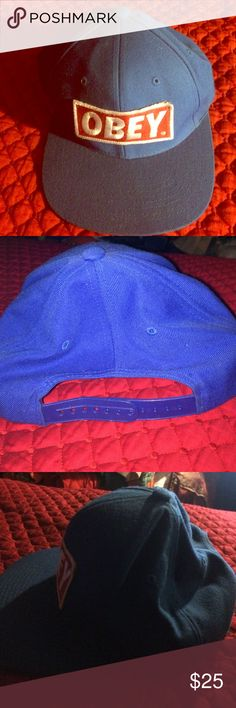 Obey SnapBack Used, but in good condition. Obey Accessories Hats
