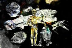 """""""Of Starships and Droids"""": The Star Wars Art of John Cockshaw"""