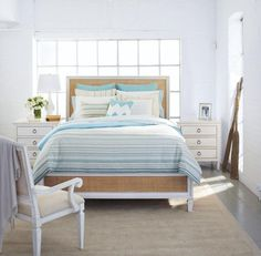 Beachy fresh - Nautica's Marina Isles bedding collection, with the Summer Hill bedroom furniture from Universal