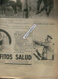VANGUARDIA AÑO 1936 GUERRA CIVIL SECTOR EBRO CORONEL GIMENEZ DIVISION CARLOS MARX MUERTO EN BELCHITE - Foto 1