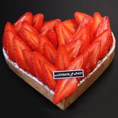 Tarte aux fraises et eau de fleur doranger - coeur (4 pers)