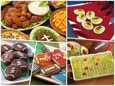 great ideas for the superbowl party. Jersey cookies?!