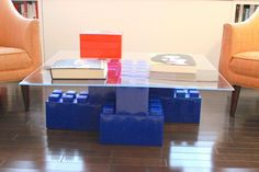 If you like the idea of a coffee table, kid's desk, or wall divider made of giant LEGO bricks, you have to check out the wildly cool EverBlock System.