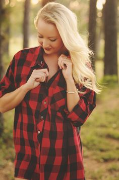 Red Hot Oversized Plaid Shirt