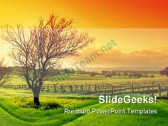 Vineyard Nature PowerPoint Background And Template 1210 #PowerPoint #Templates #Themes #Background