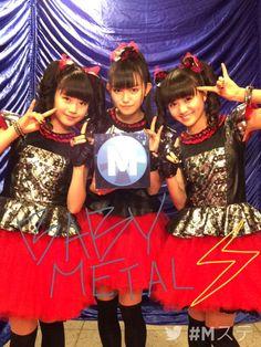rosamour:   music station @Mst_com ...            BABYMETAL TUMBLR BABYMETAL SUMETAL MOAMETAL YUIMETAL JAPAN — rosamour:   music station @Mst_com ...{