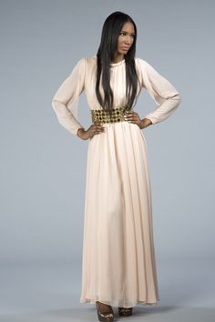 The elegant, ephemeral Noor gown is perfect for Spring and on trend with the