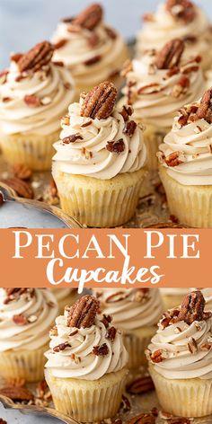 Best Ever Pecan Pie Cupcakes