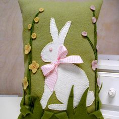 Spring Bunny Pillow Pattern at Flying Geese Fabric