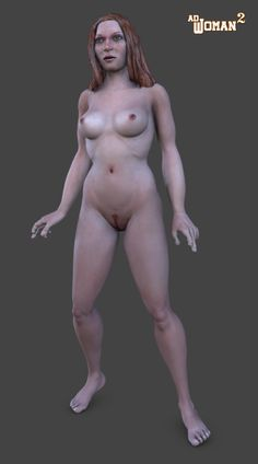 """Hi, I am working in a new female figure for Poser 9+, adwoman v2. I modeled her in wings3d, rigged in Poser and render in Poser too. The figure has around 39000 polys.  In the render you can see what I have till now, this is the redhead texture version with a red long """"wild"""" hair.  More updates soon."""