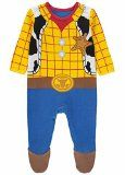 Officially Licensed Disney Toy Story Woody 100% Cotton Sleepsuit Onesie 6-9 Months, 9-12 Months & 12-18 Months. Made By Disney Baby for George Collection (9-12 months)