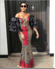 Ankara gowns are beautiful and we've got more than enough ankara long gown styles you'll love in this post. African Fashion Ankara, African Print Dresses, African Dresses For Women, African Print Fashion, African Wear, Fashion Prints, African Prints, African Style, Modern African Dresses